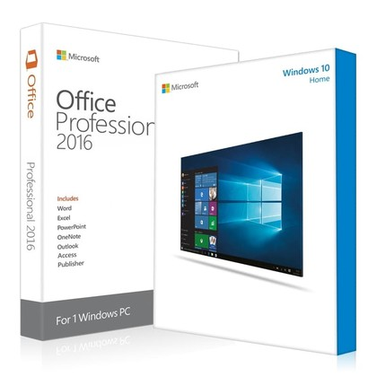 Windows 10 Home + Office 2016 Professional  Key