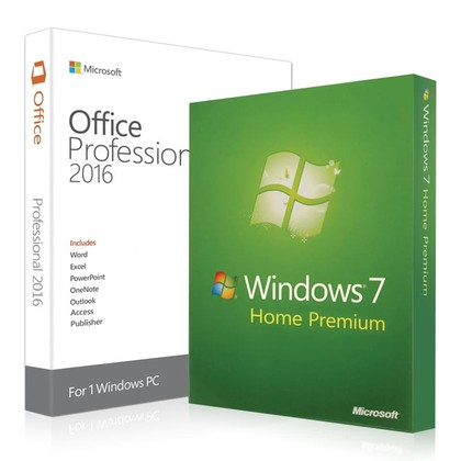 Windows 7 Home Premium + Office 2016 Professional Key