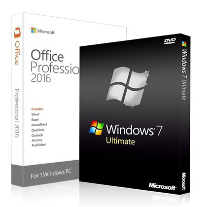 Windows 7 Ultimate + Office 2016 Professional Key